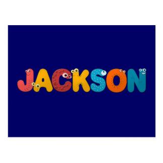 Carte Postale alphabet animal Jackson