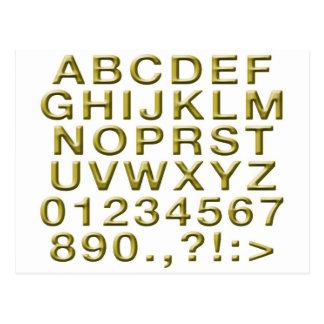 Carte Postale Alphabet d'or