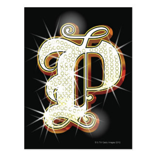 Carte Postale Alphabet P de Bling