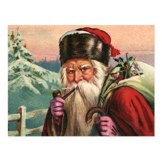 Carte postale alpine de Père Noël