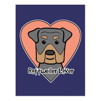 Carte Postale Amant de rottweiler