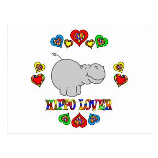 Carte Postale Amant d'hippopotame
