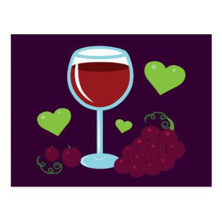 Carte Postale Amateur de vin