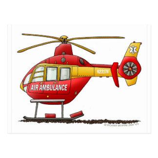 Carte Postale Ambulance médicale d'hélicoptère de délivrance de