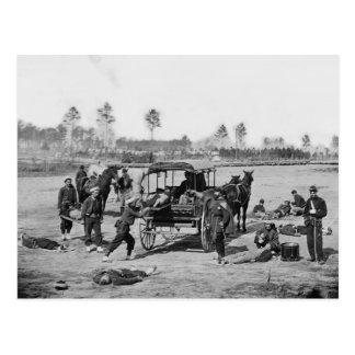Carte Postale Ambulanciers de guerre civile