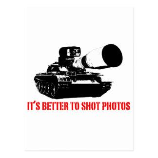 Carte Postale Améliorez aux photos de tir