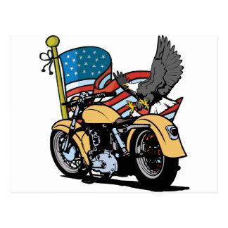 Carte Postale Américain Eagle de cycliste