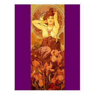 Carte Postale Améthyste - art Nouveau