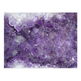 Carte Postale Améthyste Geode - pierre gemme en cristal violette