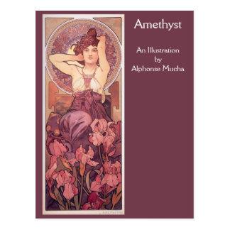 Carte Postale Améthyste par Alphonse Mucha