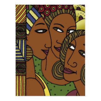 Carte Postale Amies de soeur de femmes d'Afro-américain