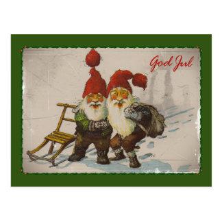 Carte Postale Amis de gnome de Noël