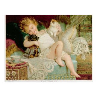 Carte Postale Amis, des poires Annual, 1903