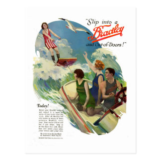 Carte Postale Amis vintages dans des maillots de bain