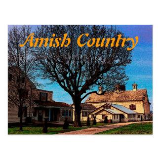 Carte postale amish de grange