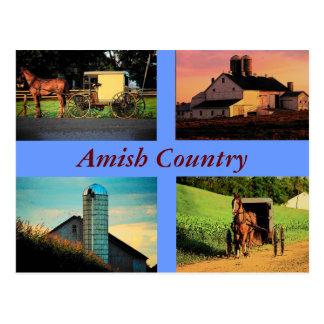 Carte postale amish de montage