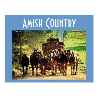 Carte postale amish de pays