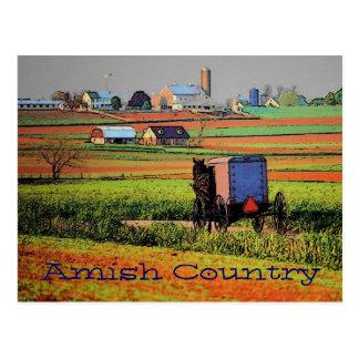 Carte postale amish de paysage de pays