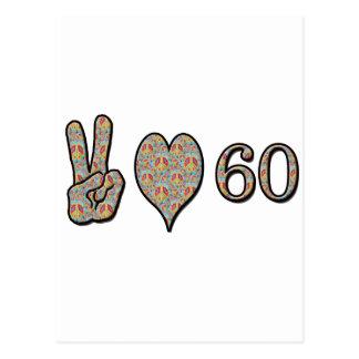 Carte Postale Amour 60 de paix