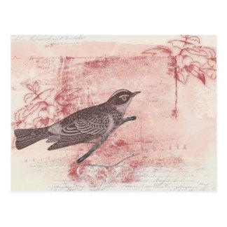 Carte Postale amour artistique grunge de lettre de dessin