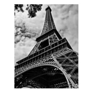 Carte Postale Amour blanc noir Paris l'Europe de Tour Eiffel de