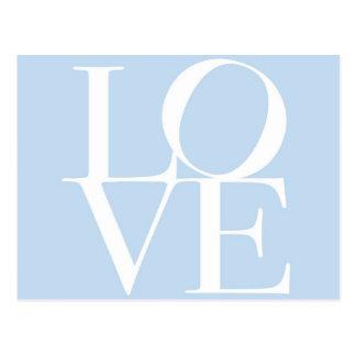Carte Postale Amour dans les bleus layette