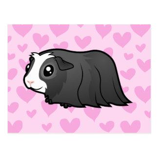 Carte Postale Amour de cobaye (longs cheveux)