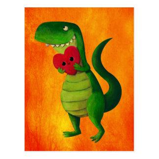 Carte Postale Amour de dinosaure de RAWR