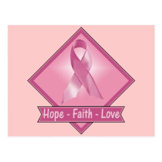 Carte Postale Amour de foi d'espoir de cancer du sein