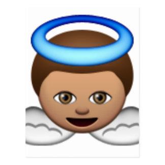 Carte Postale amour de halo d'emoji d'ange de bébé