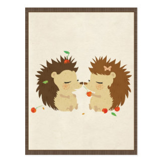 Carte Postale Amour de hérisson (carte postale de regard II)