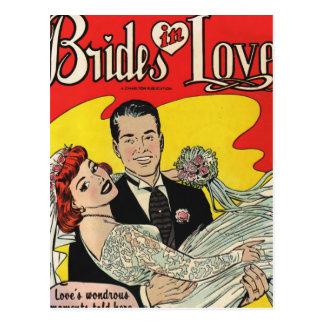 Carte Postale Amour de jeunes mariées