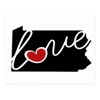 Carte Postale Amour de la Pennsylvanie !  Cadeaux pour des