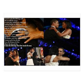 Carte Postale Amour de Michelle et de Barack Obama