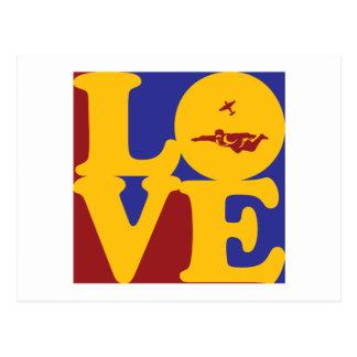 Carte Postale Amour de parachutisme