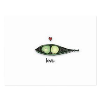 Carte Postale Amour de Peapod