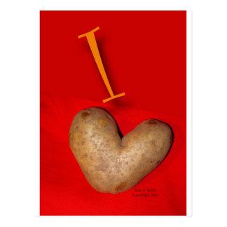 Carte Postale Amour de pomme de terre