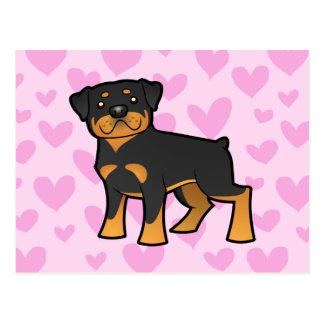 Carte Postale Amour de rottweiler