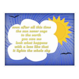 Carte Postale Amour de Sun pour la terre par Hafiz