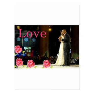Carte Postale Amour d'Obama-Michelle