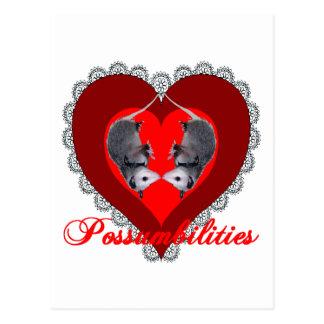 Carte Postale Amour d'opossum
