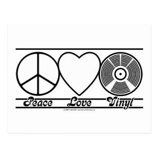 Carte Postale Amour et vinyle de paix