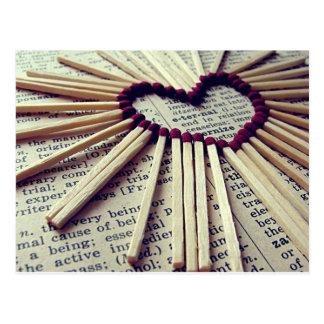 Carte Postale Amour éternel de coeur