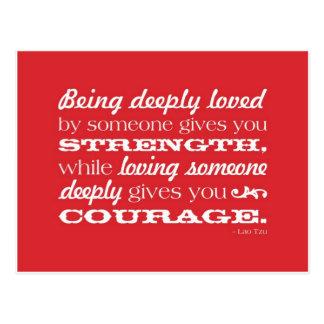 Carte Postale Amour = force et courage