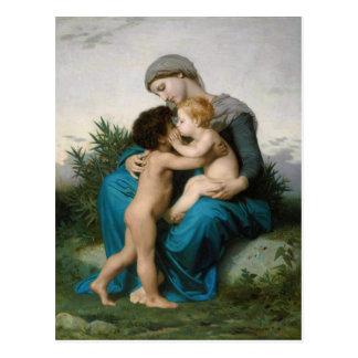 Carte Postale Amour fraternel par William-Adolphe Bouguereau