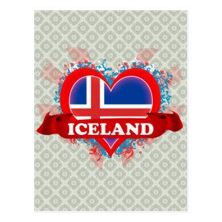 Carte Postale Amour Islande du cru I