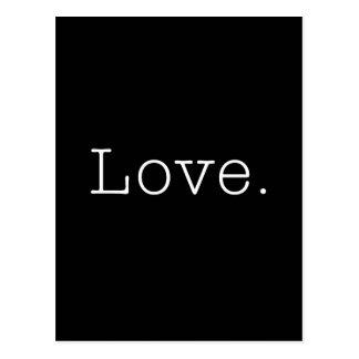 Carte Postale Amour. Modèle noir et blanc de citation d'amour