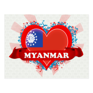 Carte Postale Amour Myanmar du cru I