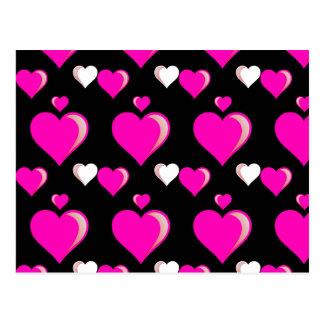 Carte Postale Amour Pat de Saint-Valentin de coeurs de roses
