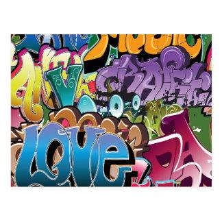 Carte Postale Amour pour le graffiti